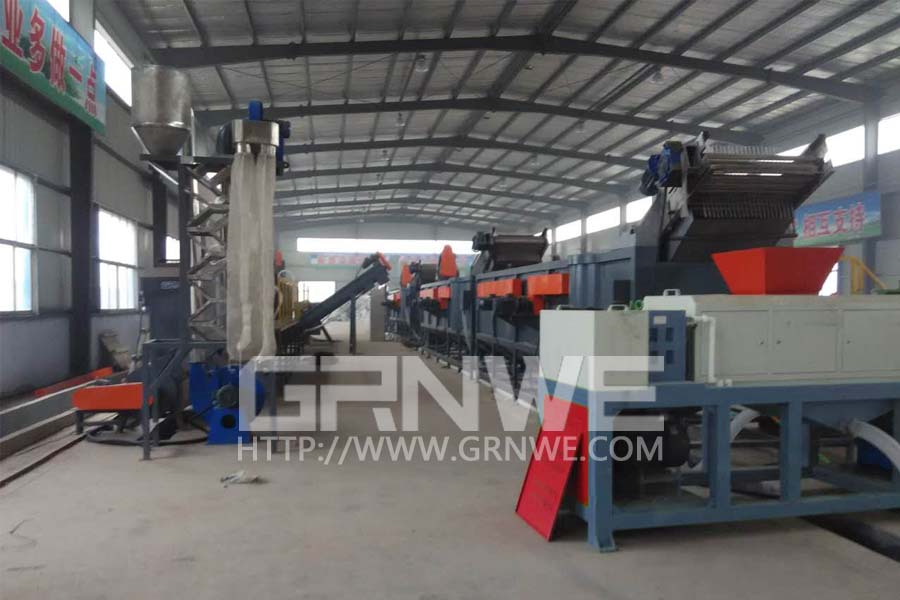 Waste Mulching Flim Washing And Squeezing Line